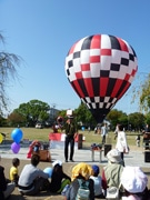 係留気球で空中散歩-姫路大道芸フェスと同時開催