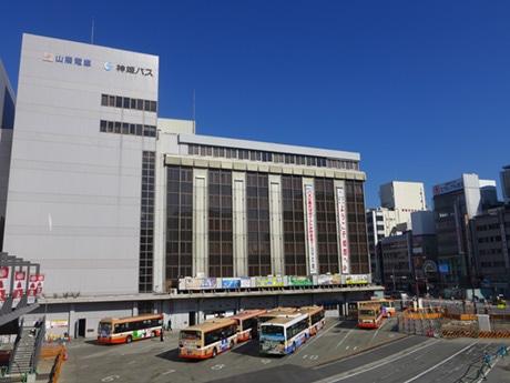 姫路駅前のバスセンター「神姫バスターミナル」。12月3日