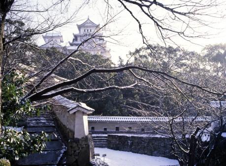 雪景色の姫路城