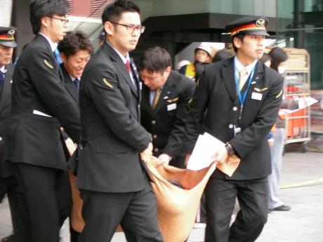 JR駅員による訓練