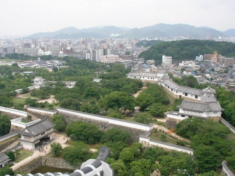 姫路城から一望した姫路市内