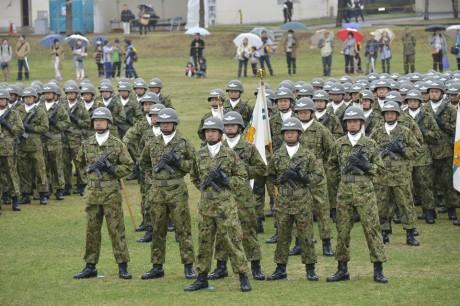 習志野駐屯地での創立記念行事の様子(陸上自衛隊公式サイトより)