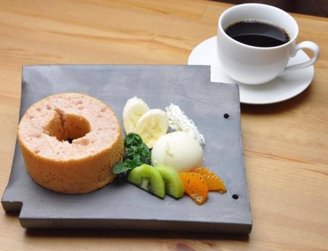 「姫路城瓦盛り」ケーキセット