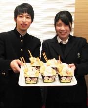 姫路駅構内に「えきそばパフェ」登場 地元高校生が商品開発