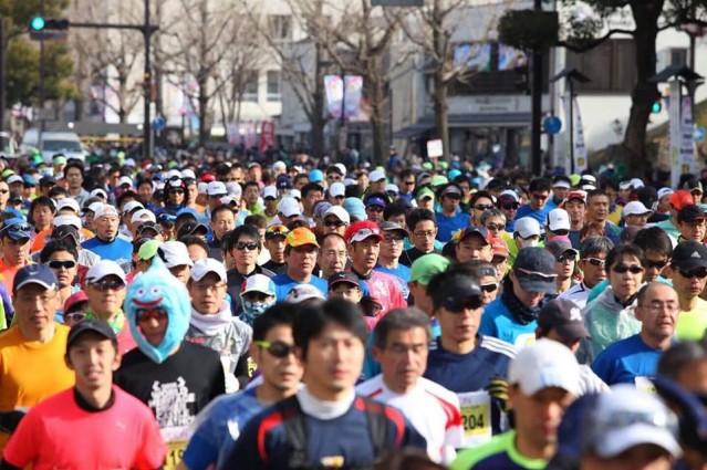姫路城マラソンの様子