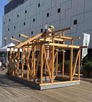 姫路駅前で衣食住をテーマにした体験イベント 子どもサイズの家作りも