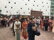 姫路の中心街で着物イベント 着物姿で姫路城入城無料など特典も