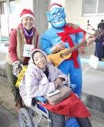 姫路・香寺でサンタクロースイベント 子どもたちに絵本プレゼント