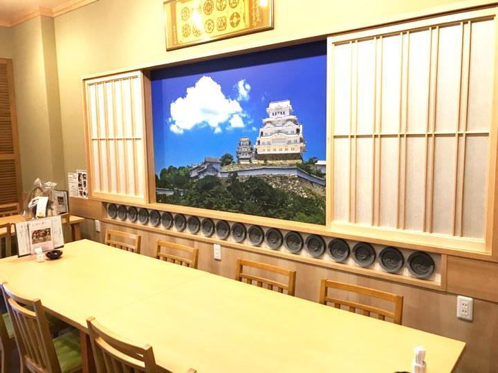 姫路城の大型写真パネル