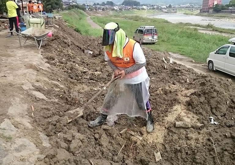 九州北部豪雨・ボランティアの様子