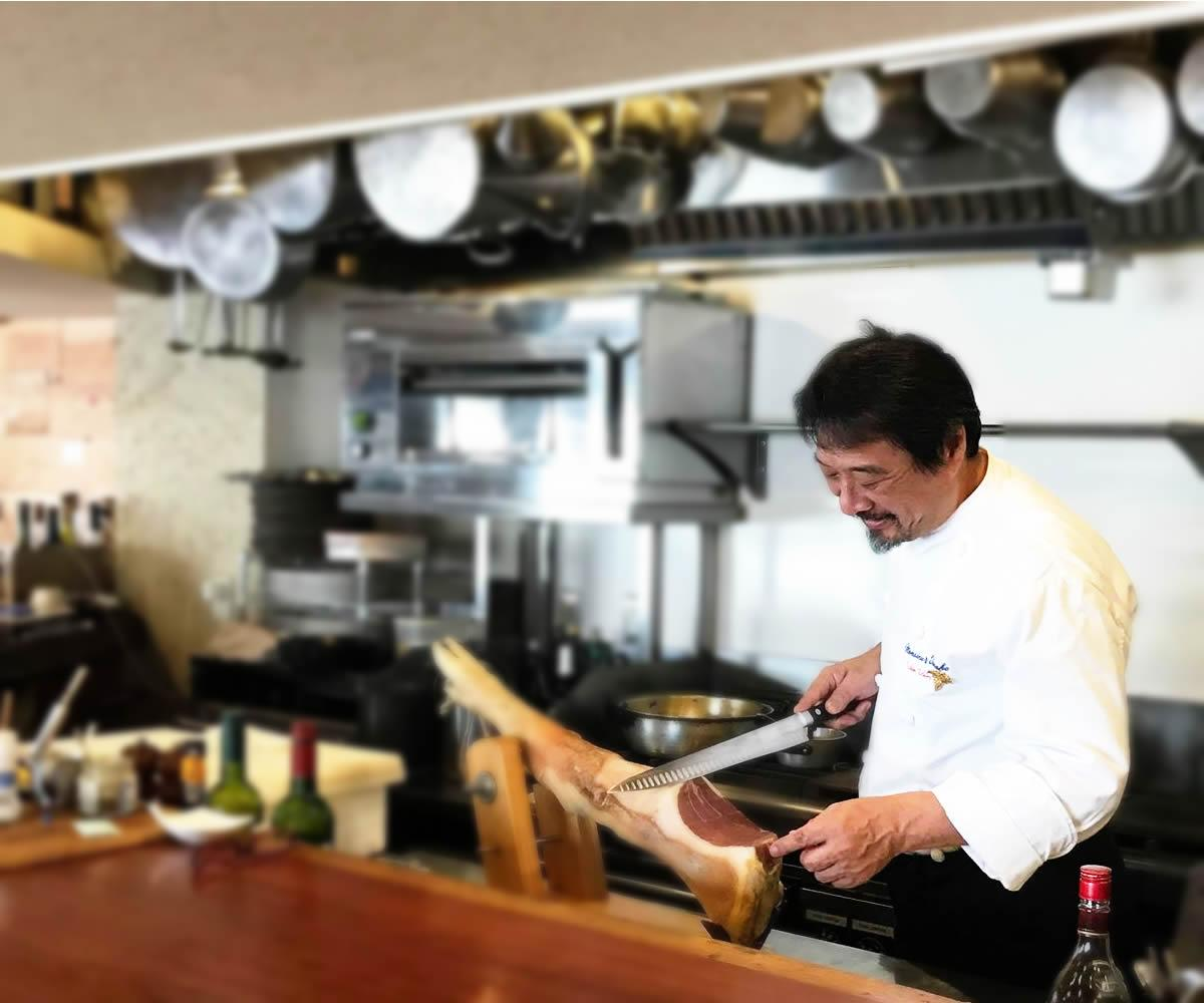 ムッシュ田中の料理とワインの店 Vin Vin 店主の田中章博さん