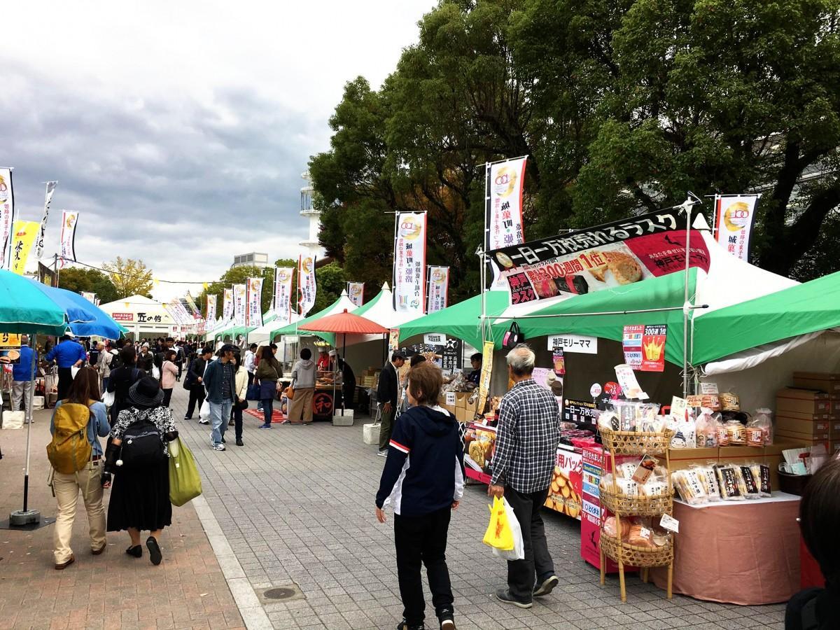 「第31回姫路全国陶器市」と「第10回姫路菓子まつり2018」の様子