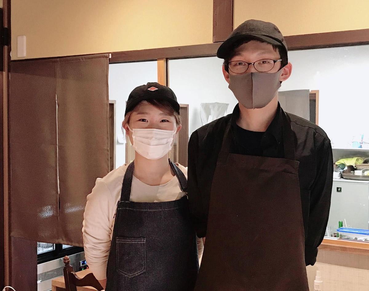 中田和馬さん(右)、千果さん(左)