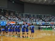 「黒鷲旗全日本男女選抜バレー」開幕 枚方・パナソニックパンサーズ、中央大下す