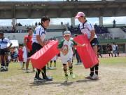 枚方で「ラグビーカーニバル」 神戸製鋼コベルコスティーラーズ選手による講習会も