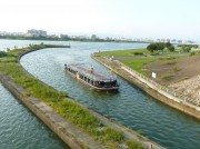 八軒家浜と枚方の船着き場を結ぶ観光船運航へ くらわんか五六市開催に合わせ