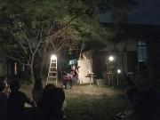 枚方・星ヶ丘の洋裁学校でお月見 月夜のギター演奏会を月見酒と共に