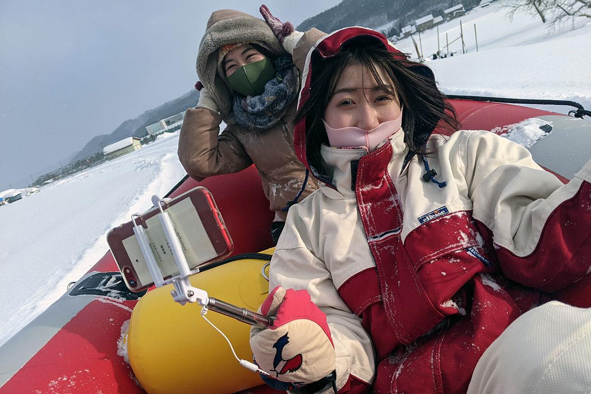 感覚が麻痺するくらい寒い中ですが、しっかりカメラを持ってレポート