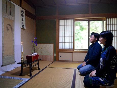 円山応挙の幽霊画。一般の写真撮影は許されていない