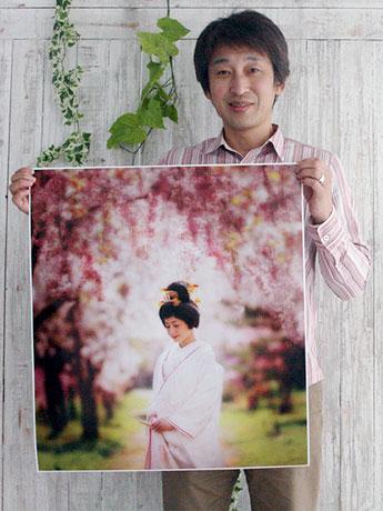 WPCワールドフォトグラフィックカップ2015に出展した長谷川正之さんの作品。「写真の力で弘前を和の街として盛り上げて行きたい」と話す