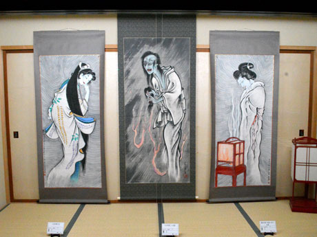 ねぷた絵師・長谷川達温さんが描いた幽霊画