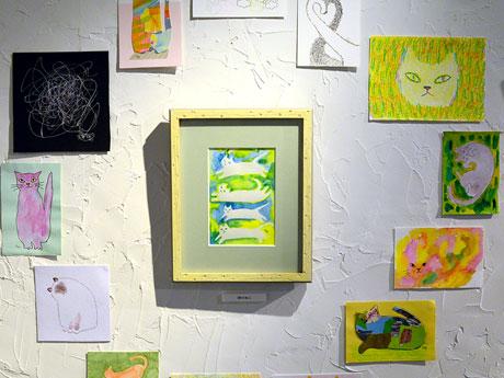 70点以上の作品が展示されている「ねこ展」