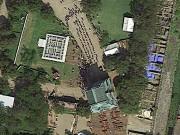 弘前城の100年に一度の歴史的瞬間がグーグルマップに 「曳屋」上空から