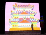 弘前「雪灯籠まつり」に2つのプロジェクション 本丸石垣に投影と雪像にマッピング