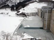 目屋ダム、今週末にも水没か ホームページで現況公開も