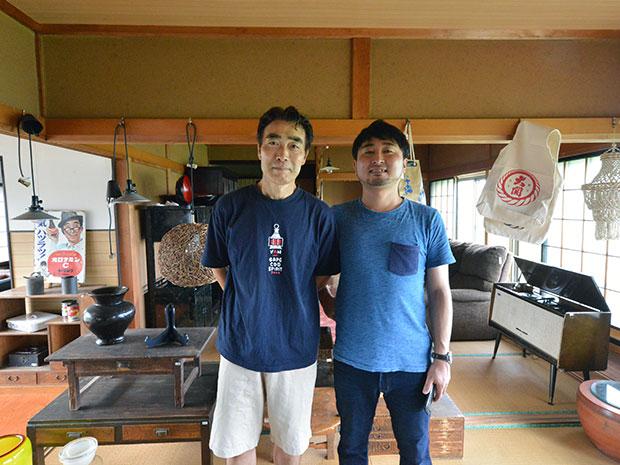 舘山次郎さん(左)と佐藤孝充さん(右)