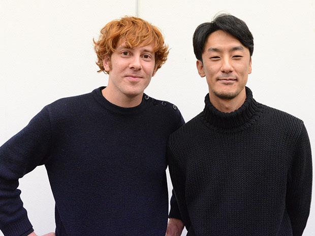 ダミアン・マニヴェルさん(左)と五十嵐耕平さん(右)