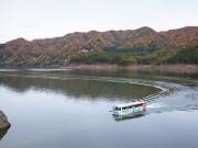 青森でダム湖の水陸両用バスツアー 白神山地の四季を楽しむ