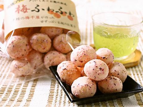 赤シソの麩菓子「梅ふわふわ」