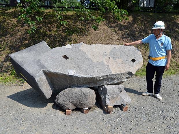 発見されたイカ型の「いかすみ石」