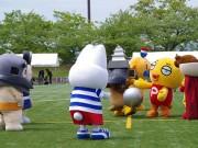 弘前でゆるキャラサッカー対決 津軽地方のゆるキャラ17体が出場
