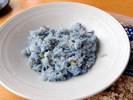 青森発の青い雑穀米