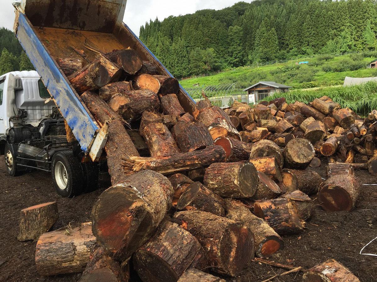 薪を使った再生エネルギー開発の協力者を募集を行う西目屋村