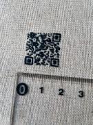 弘前のこぎん作家が手縫いでQRコードを作成 「津軽こぎん刺し広めたい」