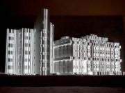 弘前城雪灯籠まつりでプロジェクションマッピング 今年は弘前市役所の大雪像