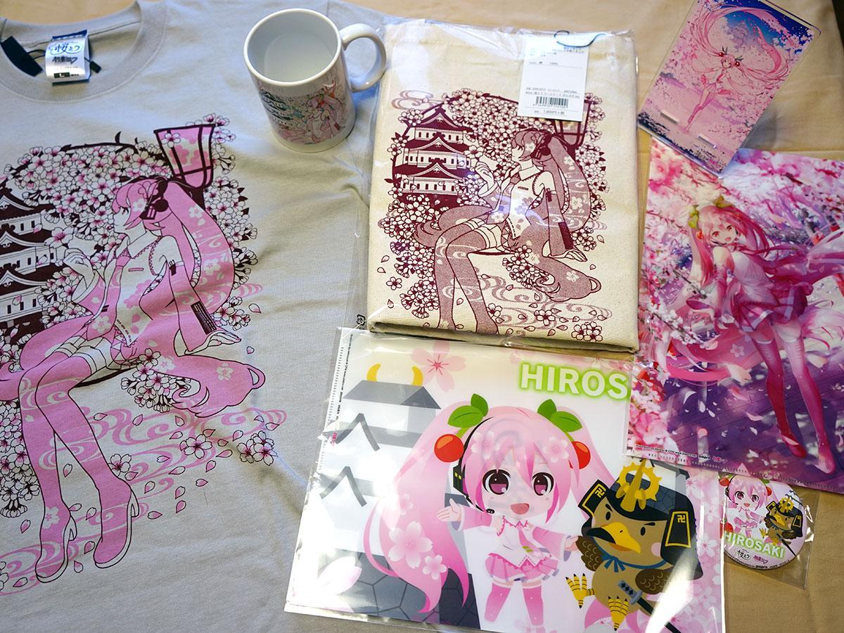 先行販売が決まった弘前さくらまつりと「桜ミク」のコラボ商品