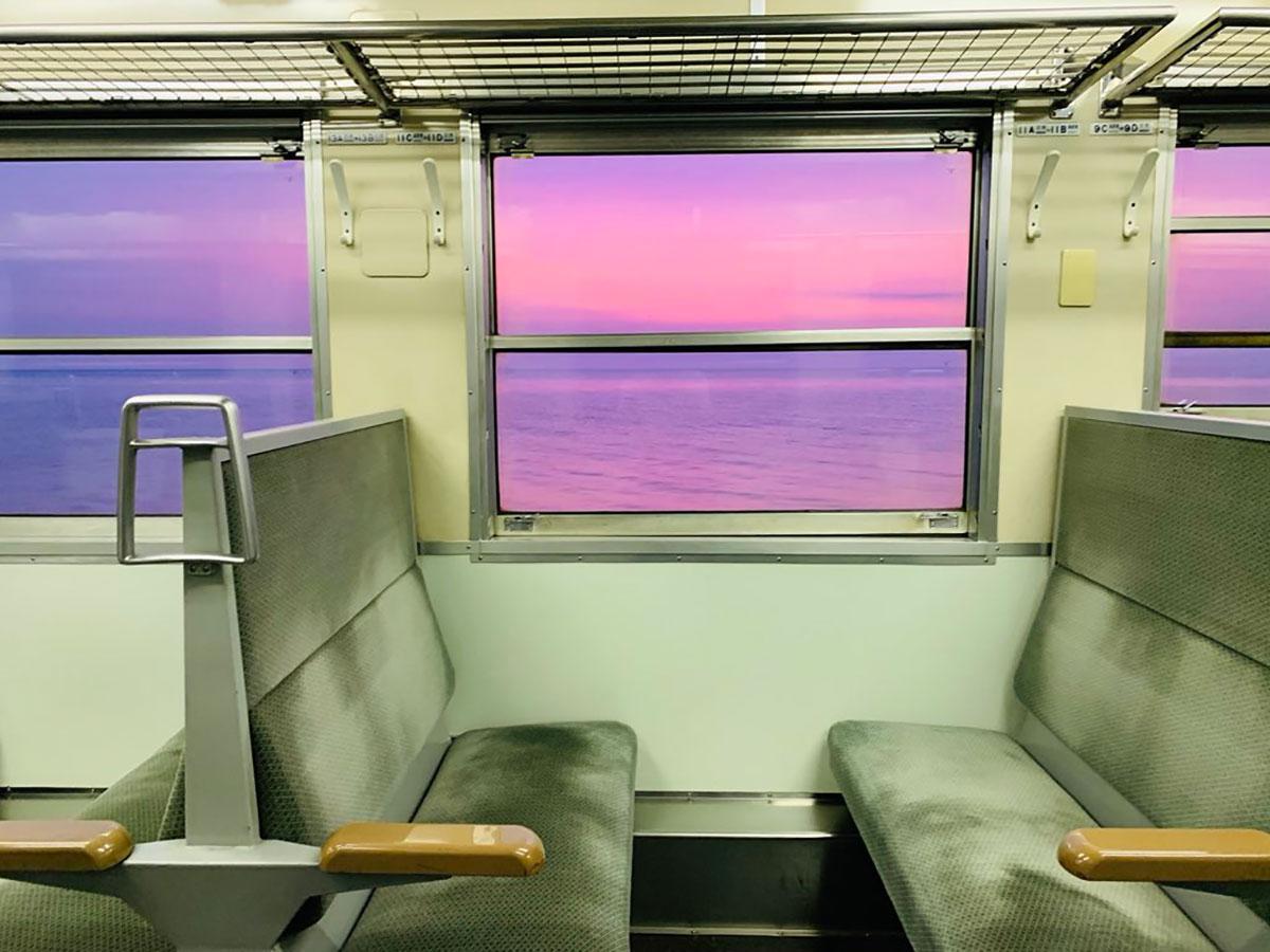 「エモエモ」と表現された夕日(写真提供=サルミアッキマン@tajiri0917さん)
