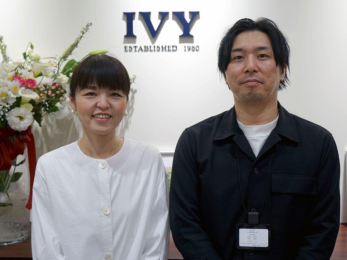 櫛引織恵さん(左)と長内伸吾さん(右)