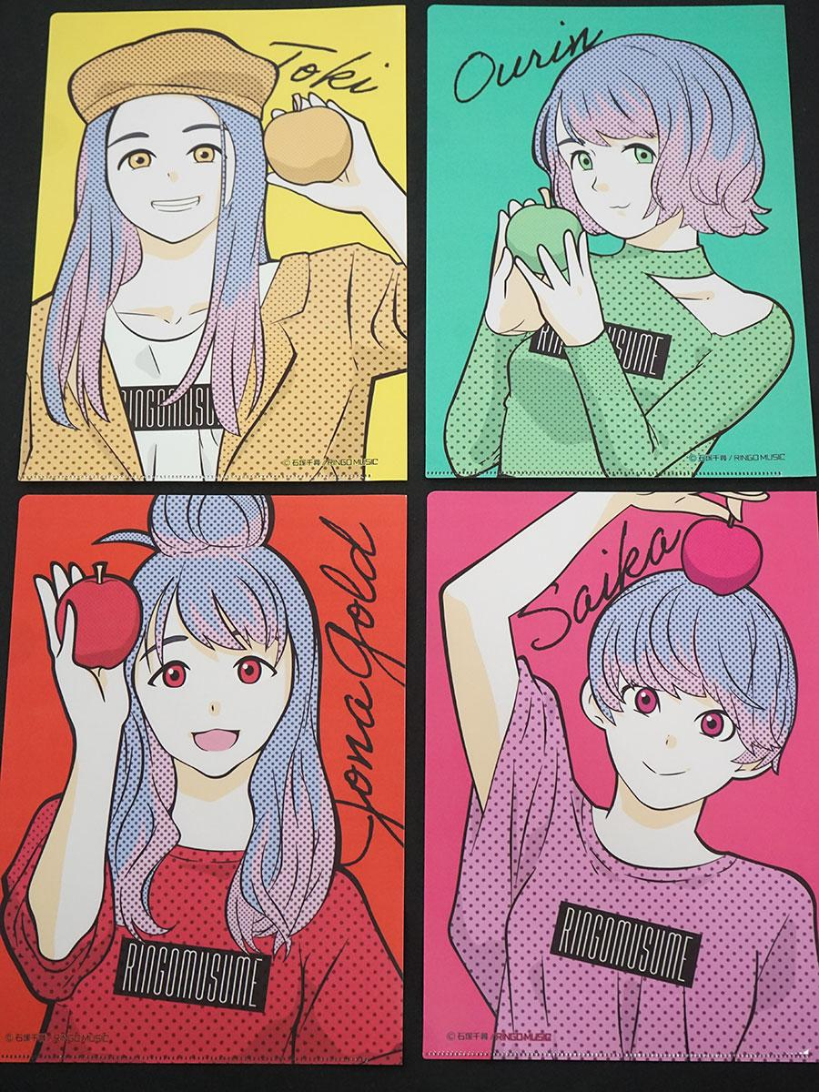 漫画家・石塚千尋さんが描くりんご娘のイラストが入ったクリアファイル ©石塚千尋/RINGOMUSUME