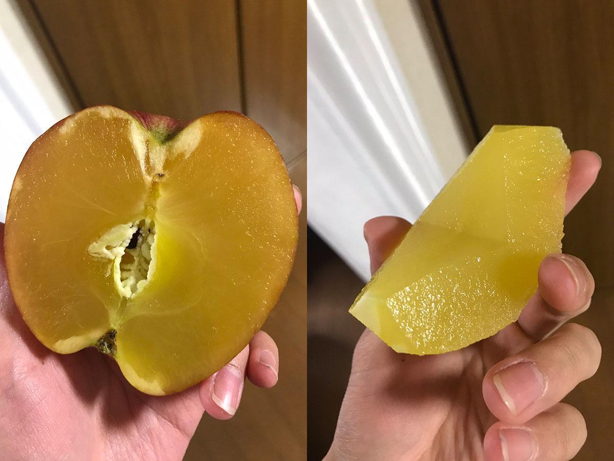 「100%蜜りんご」と投稿したリンゴ(写真提供=Barterさん)