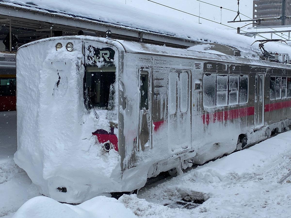 青森駅で撮影した冬の車両(写真提供=イノミク2さん)