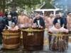 弘前で伝統の裸で行水行事 マイナス5度の厳冬の中