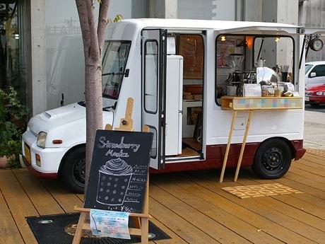 写真=移動式コーヒーショップ「ブルーバードカフェ」