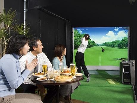 写真=シミュレーションゴルフバー「Golf Bar72」店内イメージ図