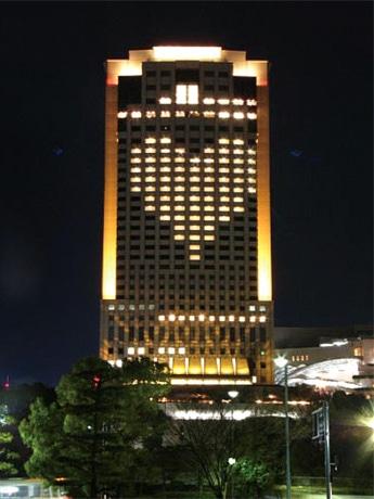 写真=リーガロイヤルホテル広島が実施した昨年の「巨大イルミネーション」の様子
