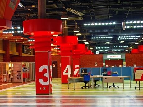 「SO@R」が行う社会実験プロジェクトの会場。マリーナホップ内の元アミューズメント施設を利用している。